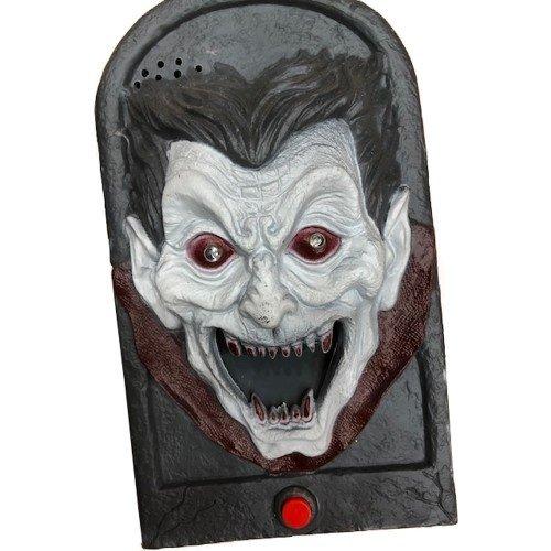 Partychimp Deurbel - Vampier - Bewegend - Met licht & geluid - 18cm