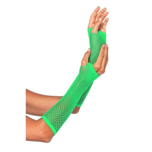 Partychimp Partychimp - Handschoenen - Nethandschoen - Vingerloos - Lang - Neon groen