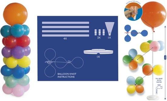 Folat Pilaar voor ballonnen - Met standaard - 135cm - Zonder ballonnen