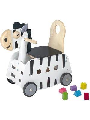 I'm Toy Loopkar / duwwagen - Zebra
