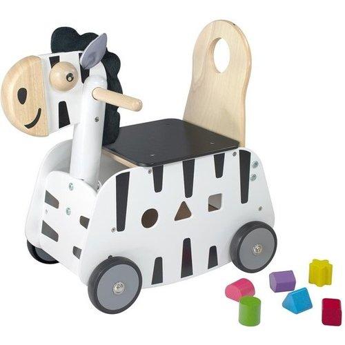 I'm Toy I'm Toy - Loop/duwwagen - Zebra
