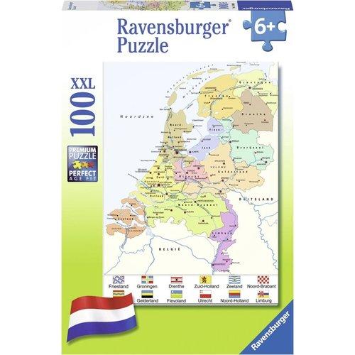 Ravensburger Ravensburger - Puzzel - Cito - Kaart van Nederland - 100st. XXL