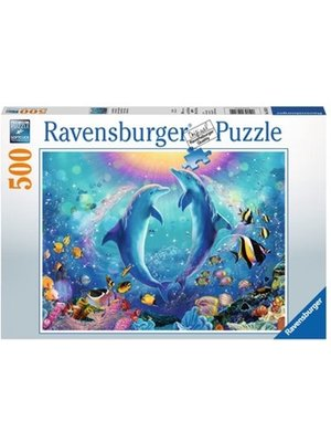 Ravensburger Ravensburger - Puzzel - Dansende dolfijnen - 500st.