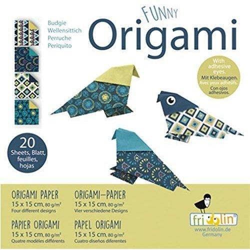 Funny Origami - Parkiet - 20 Bladen - 15x15cm