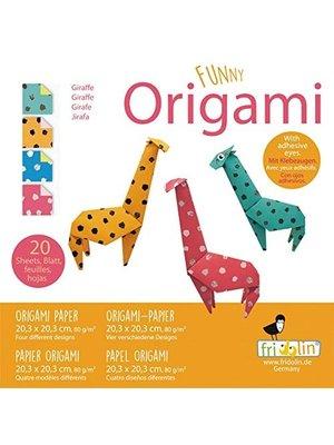 Funny Origami - Giraf - 20 bladen - 20x20cm