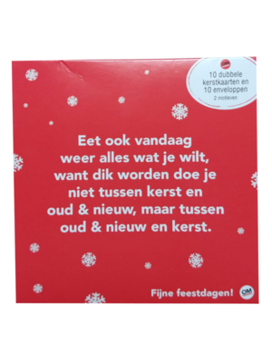Comello - Kaarten - Kerst - Omdenken - Versie 1 - 10st.