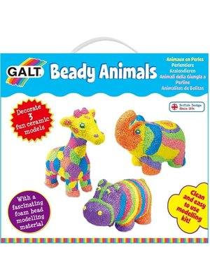 Galt Knutselset - Beady Animals - Jungledieren versieren met foamklei - 6+