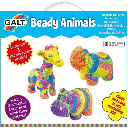 Galt Galt - Knutselen - Beady Animals - Jungledieren versieren met foamklei - 6+
