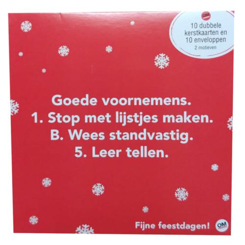 Comello - Kaarten - Kerst - Omdenken - Versie 4 - 10st.