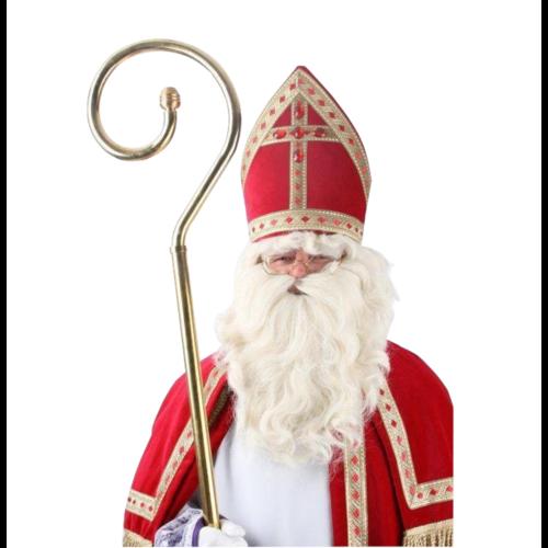PartyXplosion Pruik & baard - Sinterklaas - Met kinzak