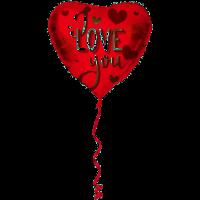 Folat - Folieballon - Hart - I Love You - 45cm - Zonder vulling