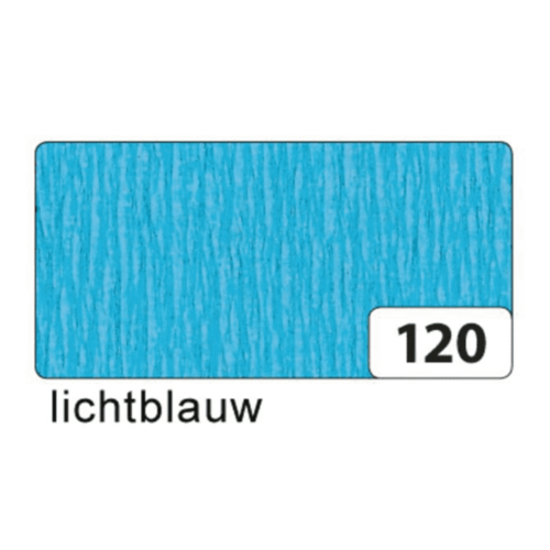 Folia Crêpepapier - Licht blauw - 250x50cm