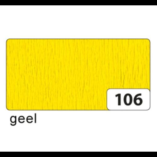 Folia Crêpepapier - Geel - 250x50cm