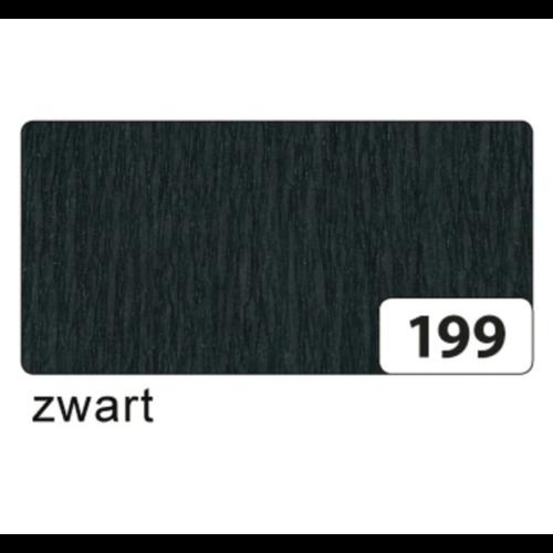 Folia Crêpepapier - Zwart - 250x50cm