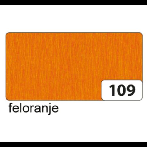 Folia Crêpepapier - Licht oranje - 250x50cm
