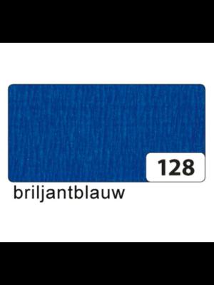 Folia Crêpepapier - Briljant blauw - 250x50cm