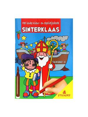 1234feest Boek - Sinterklaas - Het leukste kleur-/spelletjesboek met stickers