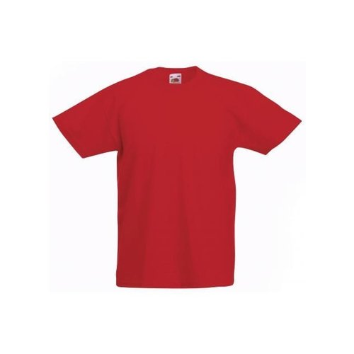 Fruit of the Loom T-shirt - Rood - mt.116