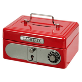 Spaarpot - Geldkistje - Metaal - Rood