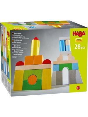 Haba Blokken - Basispakket - Gekleurd - 28dlg.