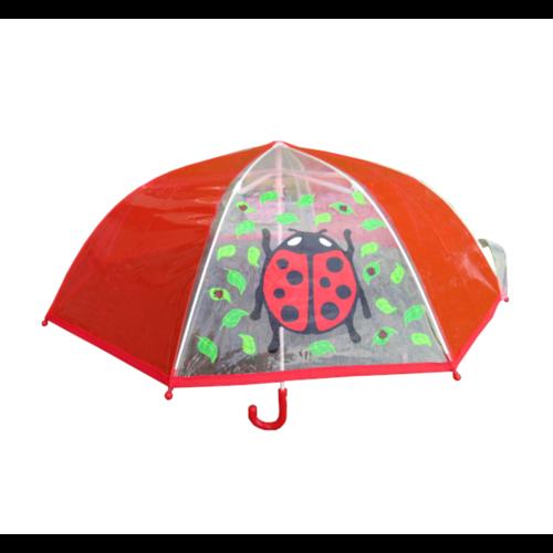 Paraplu - Lieveheersbeestje - Met transparante vlakken