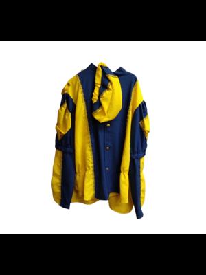 Moret Kostuum - Zwarte Piet - Blauw / geel - XL