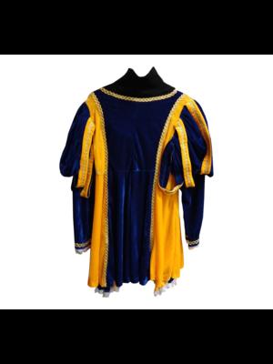 Moret Kostuum - Zwarte Piet - Donker blauw / geel - L