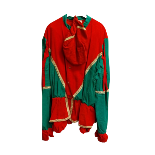 Moret Kostuum - Zwarte Piet - Rood & groen - XXL