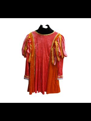 Moret Kostuum - Zwarte Piet - Roze / oranje - Luxe - XL