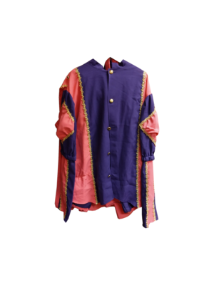 Moret Kostuum - Zwarte Piet - Roze / paars - XL