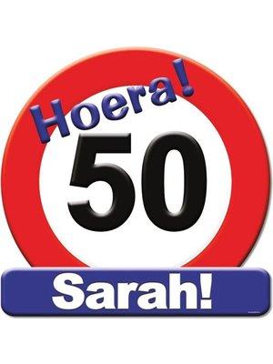 Paperdreams Paperdreams - Huldeschild - 50 Jaar Sarah