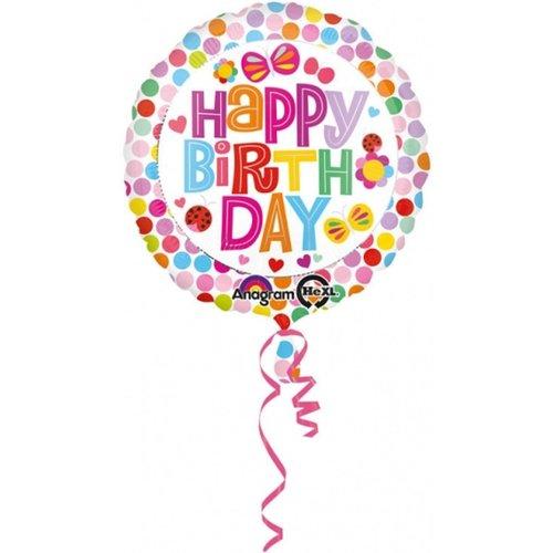 Anagram Anagram - Folieballon - Happy birthday - Vlinders - Zonder vulling - 43cm