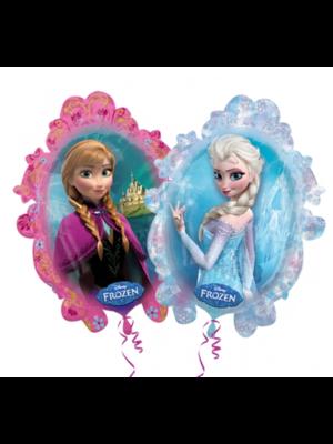 Anagram Folieballon - Frozen - Anna & Elsa - 63x78cm - Zonder vulling