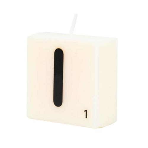 Paperdreams Cijfer- / letterkaarsje - Scrabble - I