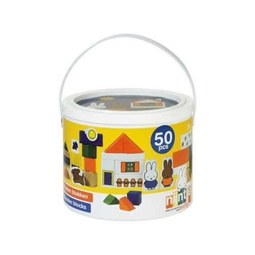 Bambolino Toys Bambolino - Nijntje - Blokken in ton - 50dlg
