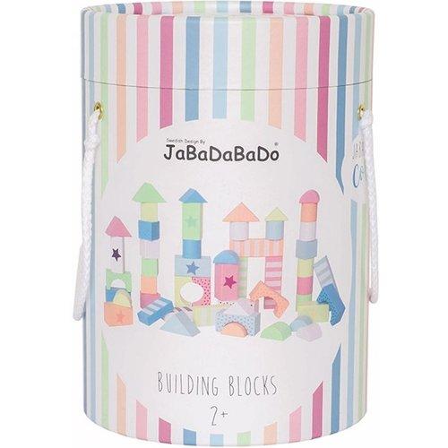 JaBaDaBaDo Blokken - Hout - Pastelkleuren - 50dlg.