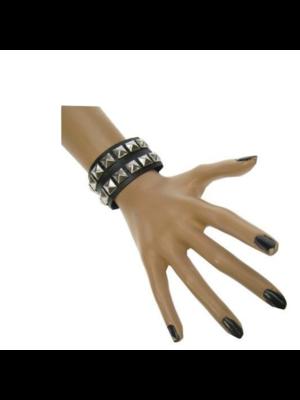 PartyXplosion Armband - Punker - Zwart - Dubbel