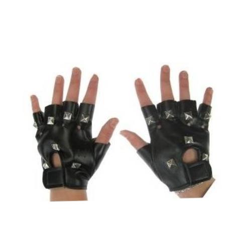 PartyXplosion PartyXplosion - Handschoenen - Punker - Zwart