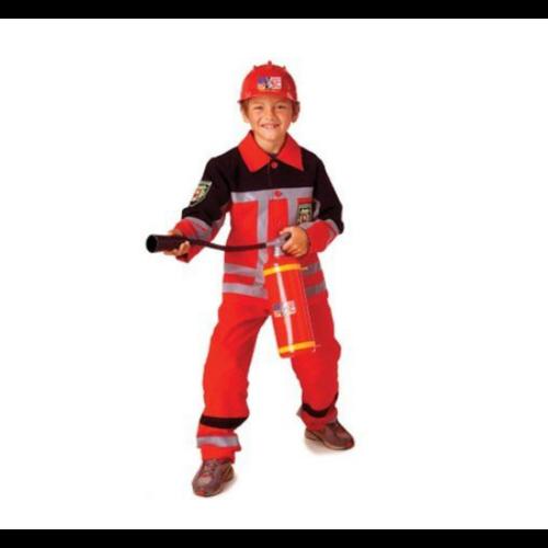 PartyXplosion Kostuum - Brandweer - Rood - mt.140