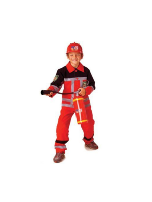 PartyXplosion Kostuum - Brandweer - Rood - mt.164