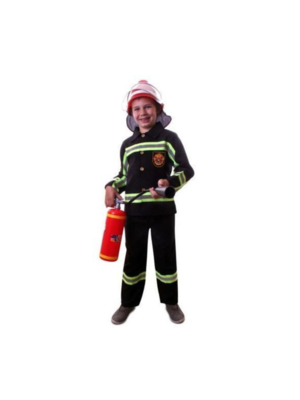 PartyXplosion Kostuum - Brandweer - Zwart - mt.152