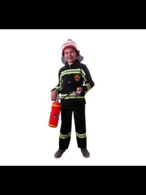 PartyXplosion Kostuum - Brandweer - Zwart - mt.140