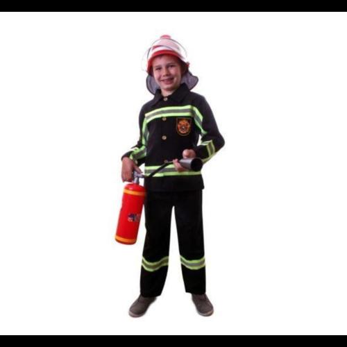 PartyXplosion Kostuum - Brandweer - Zwart - mt.92