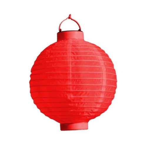 PartyXplosion Lampion met LED - 20cm - 1st. - Willekeurig geleverd