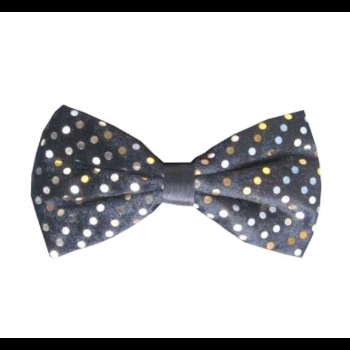 PartyXplosion Strik - Zwart met goud - Stippen - 14x7.5cm