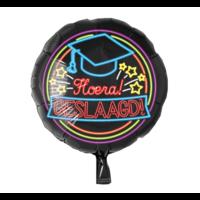 Folieballon - Geslaagd - Neon - Zonder vulling