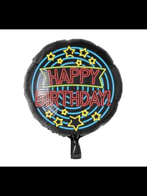 Paperdreams Paperdreams - Folieballon - Happy Birthday - Neon