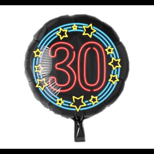 Paperdreams Folieballon - 30 Jaar - Neon - 43cm - Zonder vulling