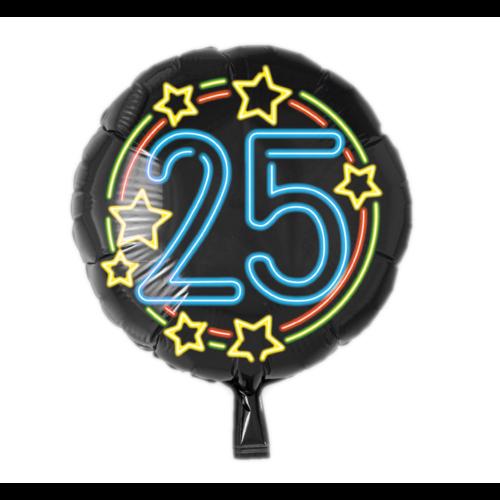 Paperdreams Folieballon - 25 Jaar - Neon - 43cm - Zonder vulling