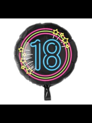 Paperdreams Folieballon - 18 Jaar - Neon - Zonder vulling